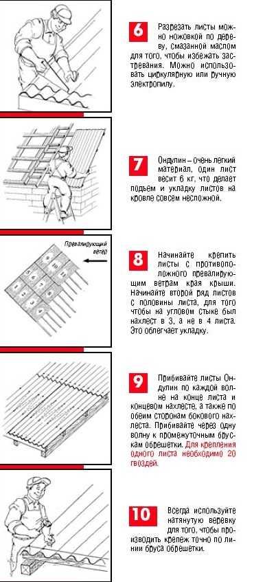 как стелить ондулин инструкция