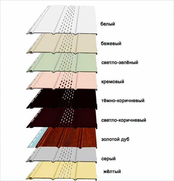 цвета софитов для подшивки кровли